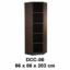 Lemari Arsip Tinggi Sudut Tanpa Pintu Expo Type DCC-00
