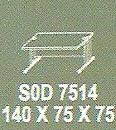 Meja Kantor Modera SOD 7514 ( S Class )