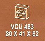 Meja Kantor Modera VCU 483 ( V Class )