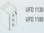 Meja Kantor Uno ( Drawer ) UFD 1130 & UFD 1180 ( Classic Series )