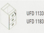 Meja Kantor Uno ( Hanging Drawer ) UFD 1133 & UFD 1183 ( Classic Series )