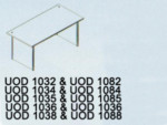 Meja Kantor Uno ( Office Desk ) UOD 1084 & UOD 1034 ( Classic Series )