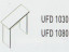 Meja Kantor Uno ( Side Desk ) UFD 1030 & UFD 1080 ( Classic Series )