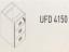 Meja Kantor Uno ( Drawer ) UFD 4150 ( Gold Series )