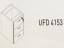 Meja Kantor Uno ( Hanging Drawer ) UFD 4153 ( Gold Series )