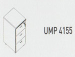 Meja Kantor Uno ( Mobile Drawer ) UMP 4155 ( Gold Series )