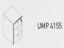 Meja Kantor Uno ( Mobile Drawer ) UMP 4155 ( Gold Series )