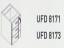 Meja Kantor Uno ( Hanging Drawer ) UFD 8171 ( Lavender Series )