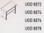 Meja Kantor Uno ( Special Desk ) UOD 8076 ( Lavender Series )