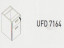 Meja Kantor Uno ( Mobile Drawer ) UMP 7165 ( Modern Series )